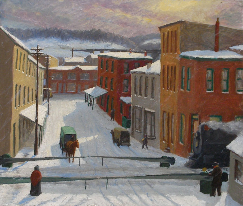 James A. Jefferys, Drifting Snow, Manayunk, 1910