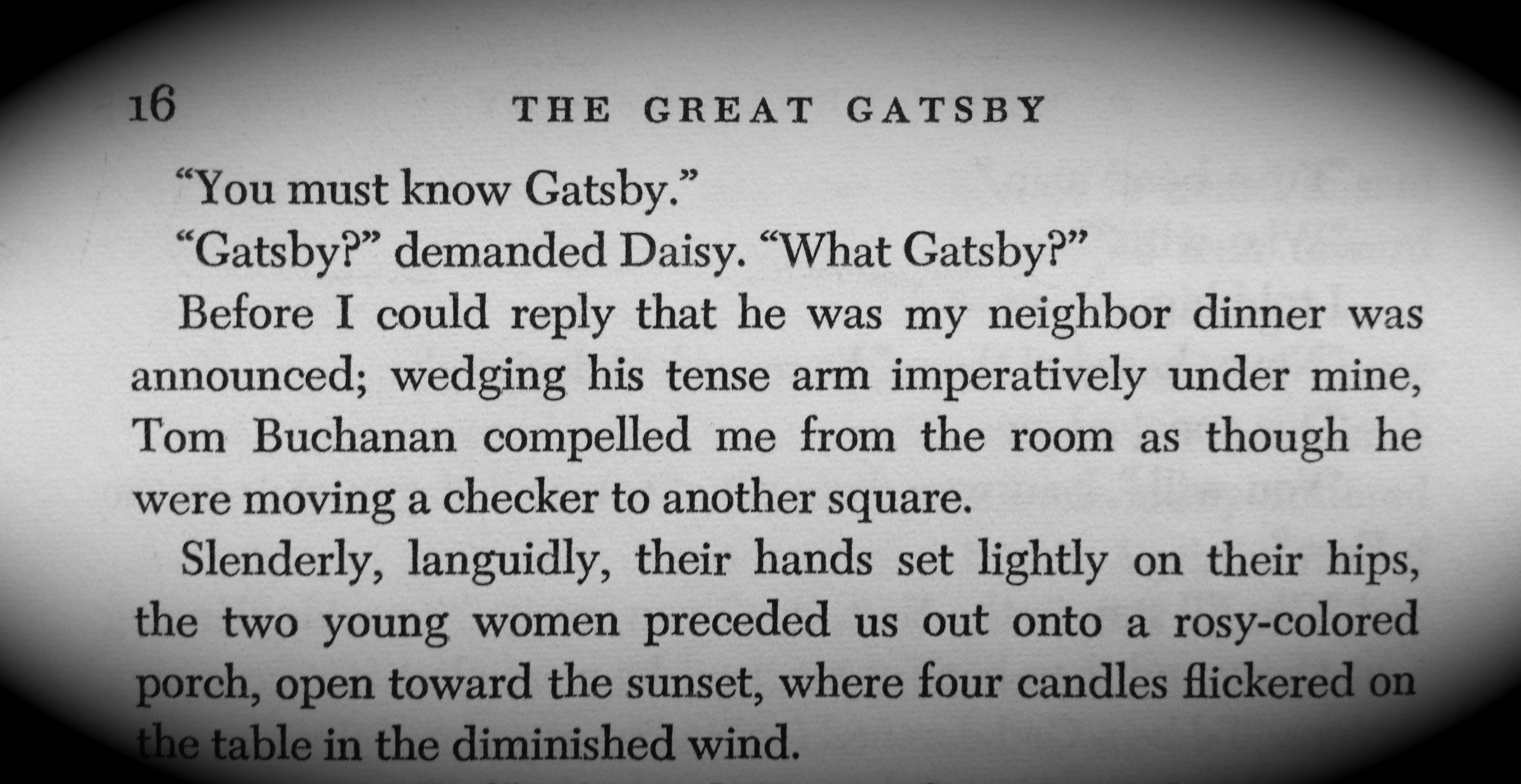 gatsby party scene importance essay The great gatsby and baz luhrmann's adaptation techniques (media analysis essay) the importance of violence and how a hyperbolic party scenes.